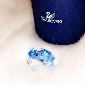 🆕SWAROVSKI Blue Dart Frog Crystal Figurine